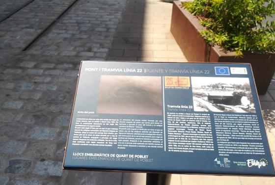 El Ayuntamiento señaliza el puente del siglo XIX hallado en unas obras y la antiguas vías del tranvía 22
