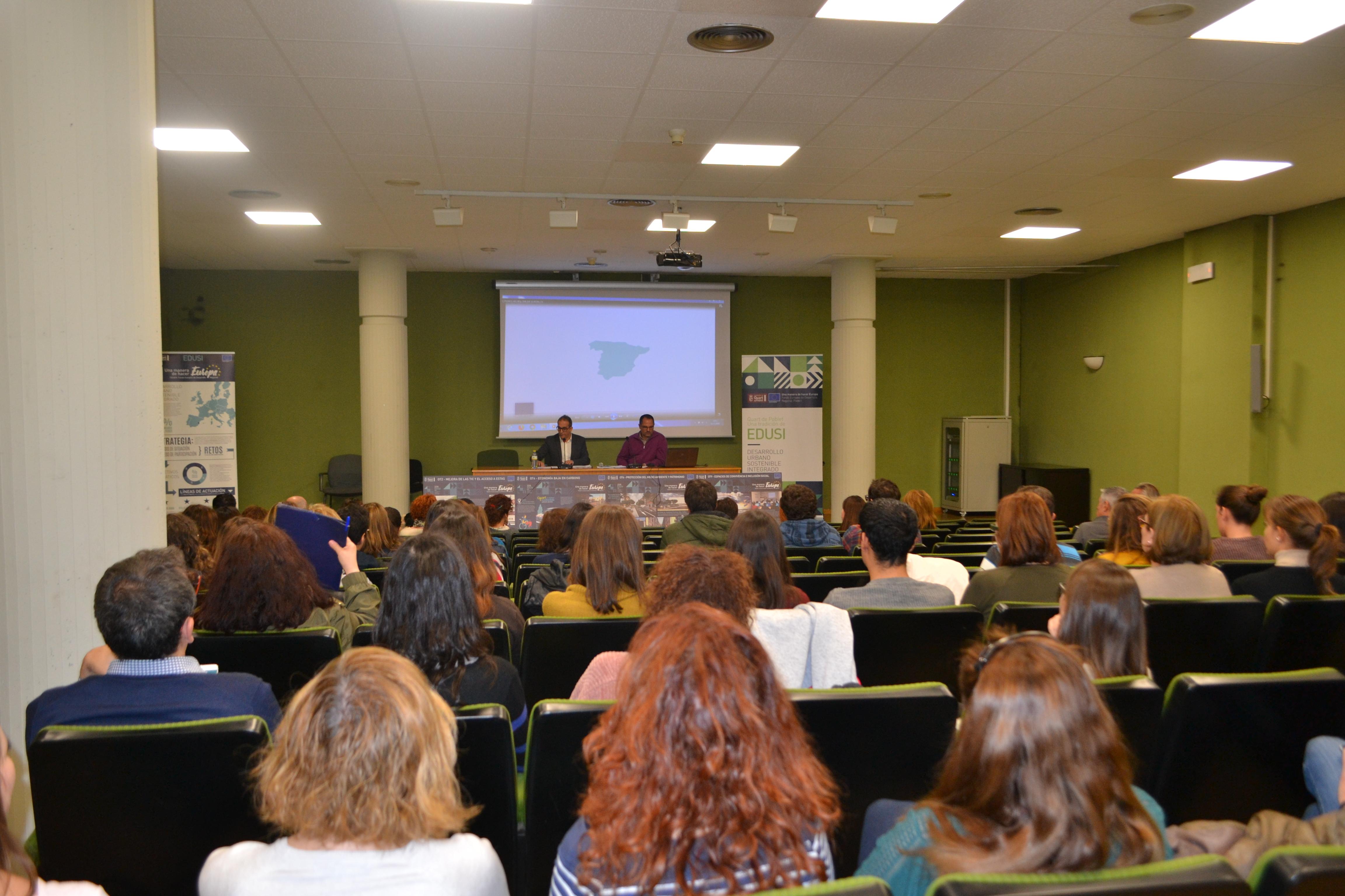 El Ayuntamiento de Quart de Poblet ya ha contratado el 32% de su proyecto FEDER-EDUSI y tiene aprobados por Europa 3 millones de euros